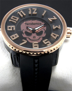 Tendence Crystal Head Skull Black Rose Gold