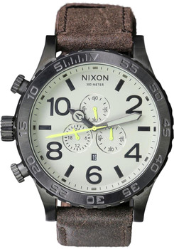 Nixon 51-30 Chrono Leather Gunmetal/Brown