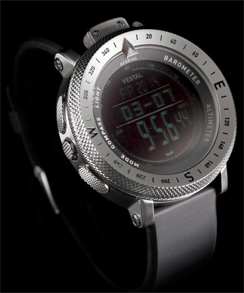 Vestal GDEDP01 The Guide: Altimeter Barometer Compass Silver