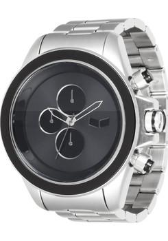 Vestal ZR3024 ZR3 Minimalist Silver Black Chronograph