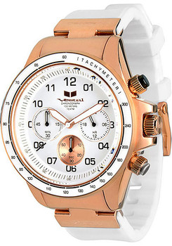 Vestal ZR2CS04 ZR2 Rubber Rose Gold White Chronograph