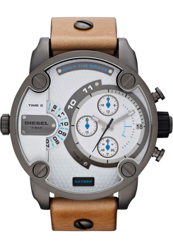 Diesel DZ7269 Mr. Daddy Gun/Tan Chrono Jump Hour