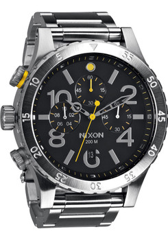 Nixon 48-20 Chrono Silver Black