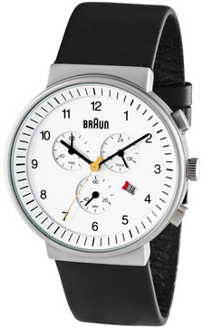 Braun BN0035 White Chrono Leather