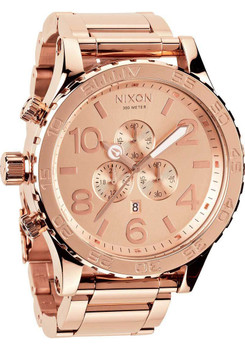 Nixon 51-30 Chrono Rose Gold