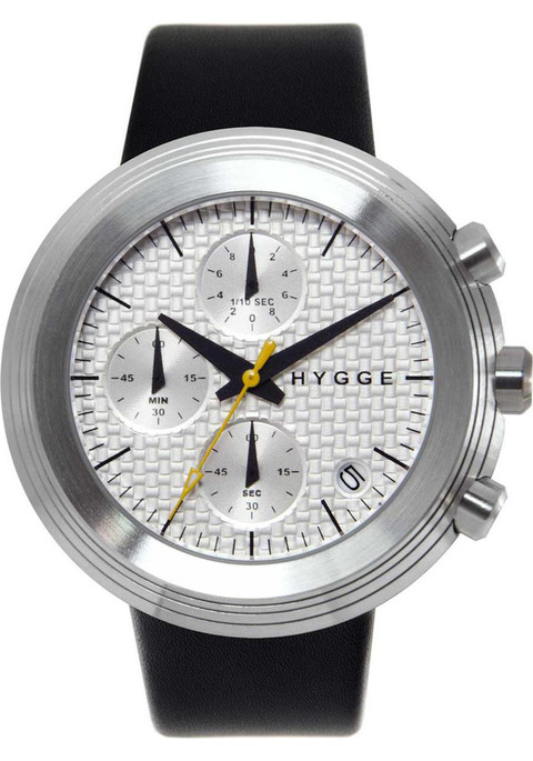 HYGGE 2312 Volcanical Chrono Leather Silver