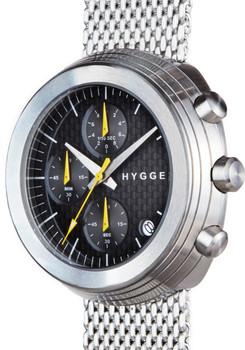 HYGGE 2312 Volcanical Chrono Mesh Silver Black