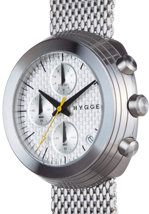 HYGGE 2312 Volcanical Chrono Mesh Silver