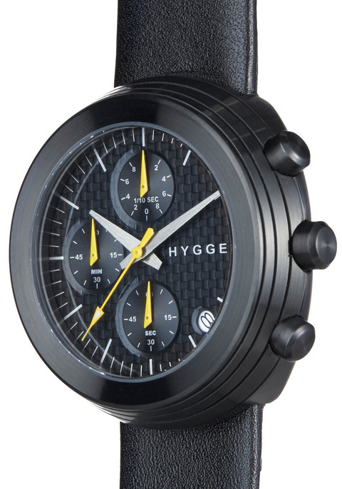 HYGGE 2312 Volcanical Chrono Leather Black