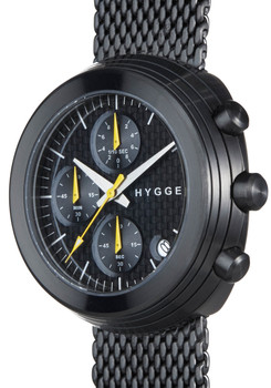 HYGGE 2312 Volcanical Chrono Mesh All Black