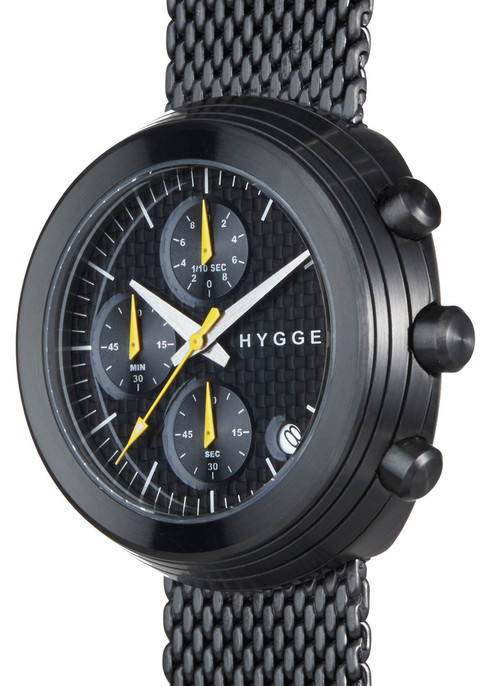 HYGGE 2312 Volcanical Chrono Mesh All Black