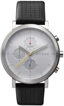 HYGGE 2204 Duality Chrono Leather Silver