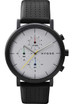HYGGE 2204 Duality Chrono Leather Black Silver