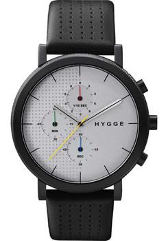HYGGE 2204 Duality Chrono Leather Black Silver
