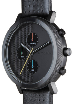 HYGGE 2204 Duality Chrono Leather Black