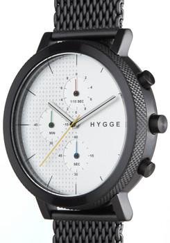 HYGGE 2204 Duality Chrono Mesh Black Silver