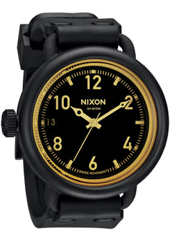Nixon October Matte Black/Orange Sniper