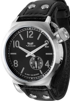 Vestal Canteen Leather Cuff Black CTN3L06