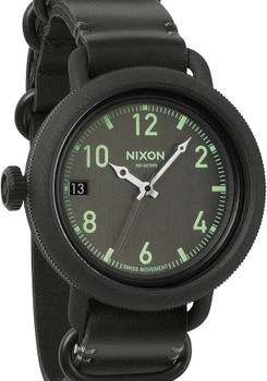 Nixon October Leather All Black
