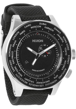 Nixon Passport World Time Silver Black