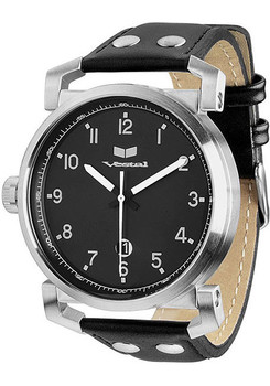 Vestal OB3L006 Observer Leather Silver/Black
