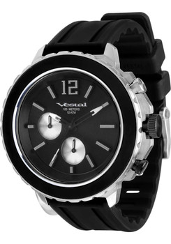 Vestal YATCS03 Yacht Silver Black Chronograph