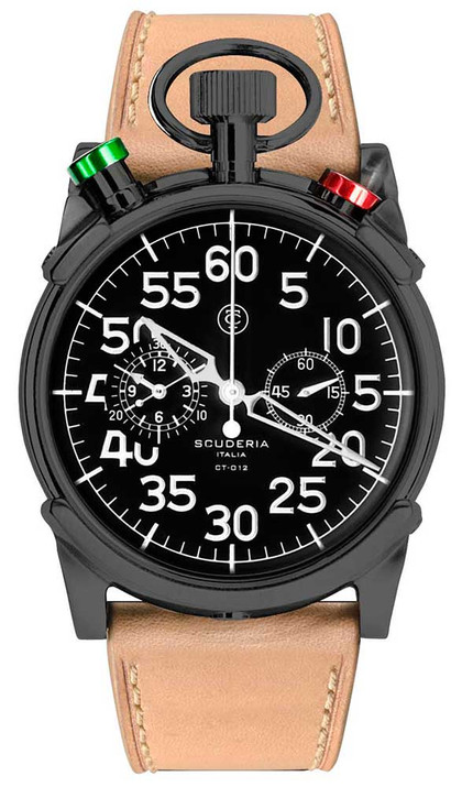 CT Scuderia Corsa Bullhead Chronograph Black/Natural