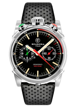 CT Scuderia Red Zone Bullhead Chrono Silver