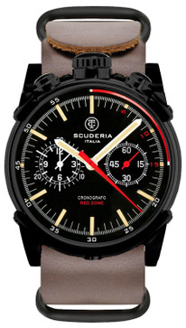 CT Scuderia Red Zone Bullhead Chrono Brown NATO
