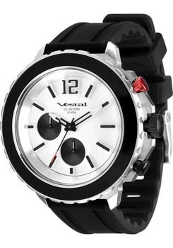 Vestal Yacht Black/White Chronograph