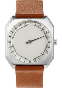 Slow Jo 24 Hour One Hand Brown Leather/Silver