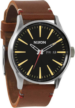 Nixon Sentry Leather Brown/Black Luxe Heritage