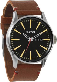 Nixon Sentry Leather Brown/Black Luxe Heritage