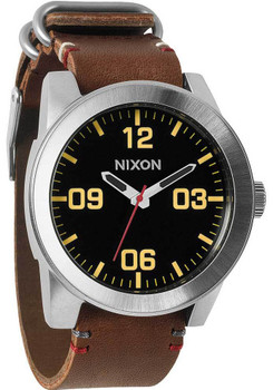 Nixon Corporal Brown/Black Luxe Heritage