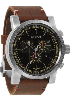Nixon Magnacon II Leather Brown/Black Luxe Heritage