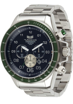 Vestal ZR3026 Steel/Green Chronograph