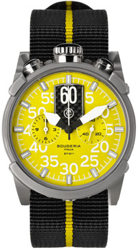 CT Scuderia Saturno Bullhead Chrono NATO - Black/Yellow