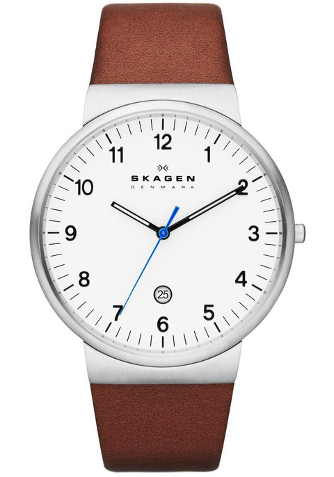 skagen skw6082 klassik date brown watches