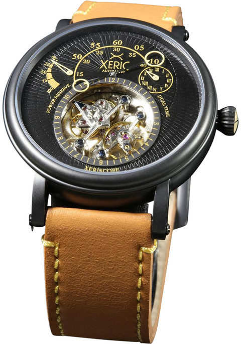 Xeric xeriscope automatic black tan for Black tan watch