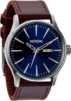 Nixon Sentry Leather Blue Brown