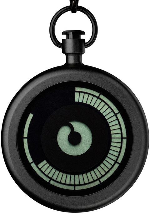Ziiiro Titan Black Pocket Watch