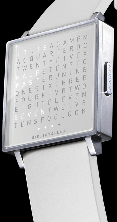 Qlocktwo W Time in Words -White