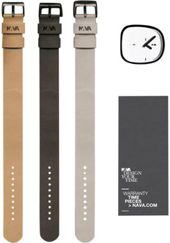 Nava Stone White Gift Box Collection with Three Leather Straps