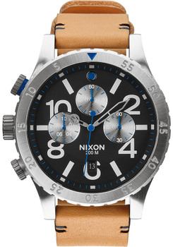 Nixon 48-20 Chrono Leather Natural/Black