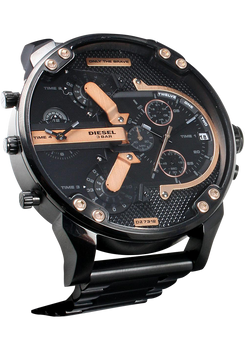 Diesel DZ7312 Mr. Daddy 2.0 Double Disc Jump Hour Black/Rose Gold