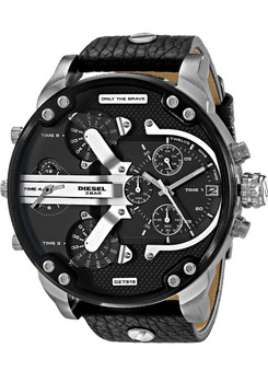 Diesel DZ7313 Mr. Daddy 2.0 Leather Silver/Black