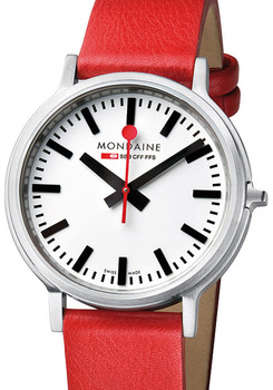 Mondaine stop2go Swiss -Red