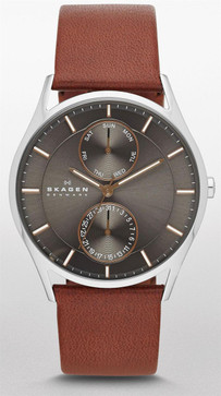 Skagen SKW6086 Holst Multifunction Brown Leather Watch