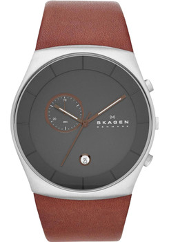 Skagen SKW6085 Chronograph Brown Leather Watch
