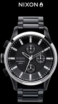 Nixon Swiss Automatic Chrono All Black Limited Edition
